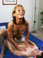 Filthy mature nurse fucking her younger patient