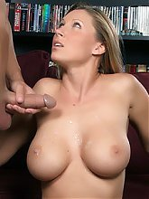 Devon Lee exposes her pair of huge breasts while taking a cock inside her MILF pussy